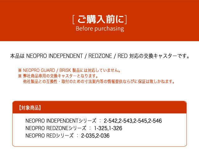 (ご購入前に)本品はNEOPRO INDEPENDENT / REDZONE / RED 対応の交換キャスターです